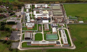 Aerial view of Hindley young offenders' institution and prison in Wigan, Greater Manchester