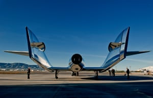 Virgin Galactic's new SpaceShipTwo craft, VSS Unity, at the Mojave Air and Space Port in California