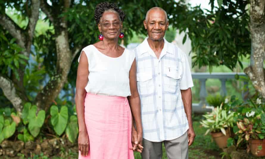 Pauline Pennant and her husband, Basil