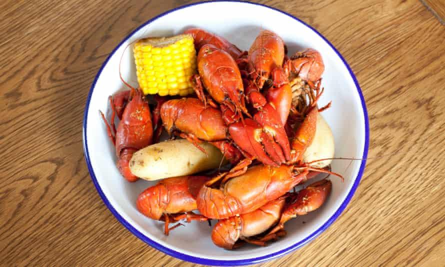 'Real pretty in their crimson shells': crayfish.