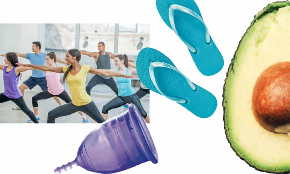 Taking gentle exercise, using menstrual cups, avoiding plastics and eating avocados can all help with menstrual problems.