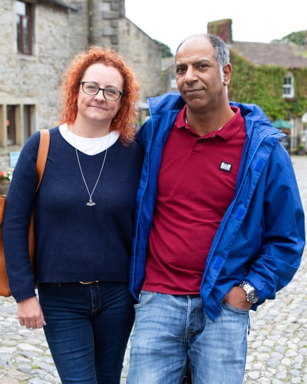Shahbaz Hussain (47) and Joanne Myers (45) from Bradford.