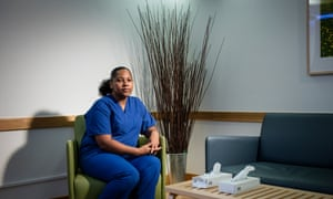 Lakeisha Ward, who works as an anatomical pathology technologist at Great Ormond Street Hospital, photographed in the family room where she greets parents before they are taken to see their child for the last time.