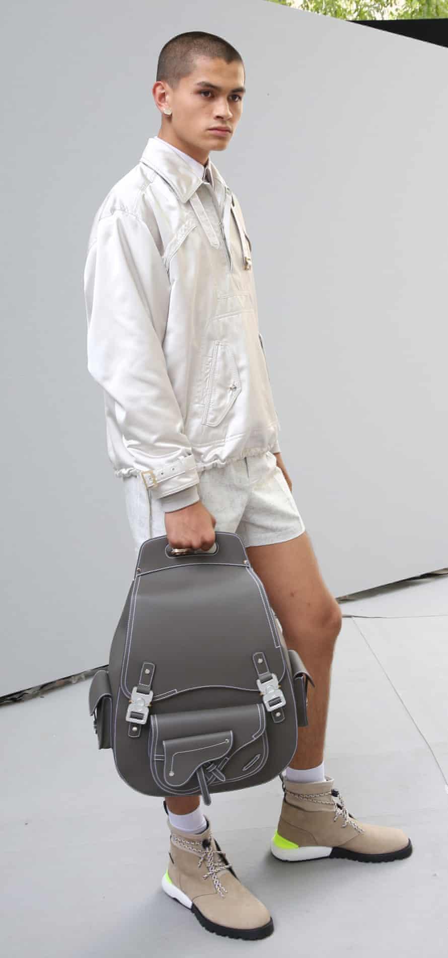 Dior Homme show, Backstage, Spring Summer 2019, Paris Fashion Week Men's, France - 23 Jun 2018Mandatory Credit: Photo by WWD/REX/Shutterstock (9721748e) Model backstage Dior Homme show, Backstage, Spring Summer 2019, Paris Fashion Week Men's, France - 23 Jun 2018