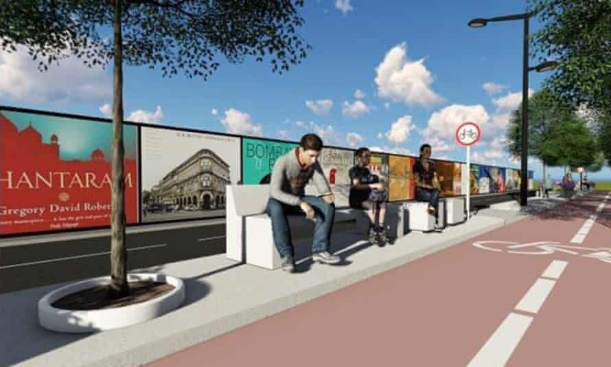 A render of how the Mumbai bike lane could look.