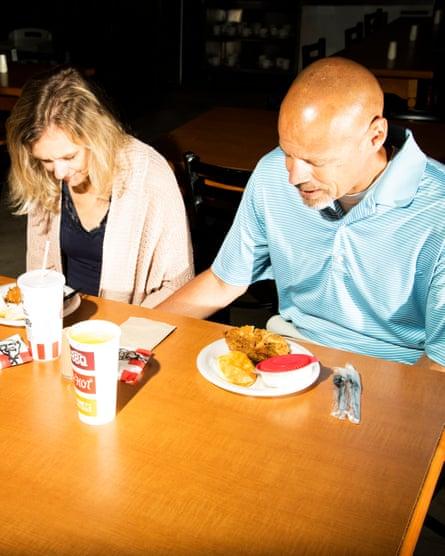 Leslie Shriner and Jeff Metcalf at Sanders Cafe.