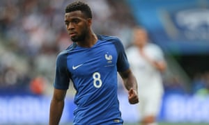 Thomas Lemar in action for France in their 3-2 win against England in June 2017.