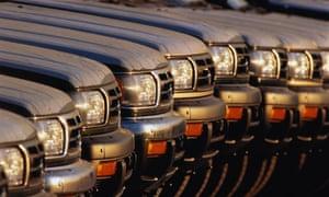 Row of SUVs