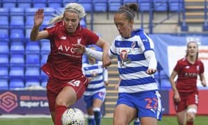 Kirsty Linnett in action for Liverpool against Reading last month. 'Caps on minimum contracts would be helpful,' she says.