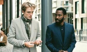 You what? … Robert Pattinson and John David Washington mumble away in Tenet.