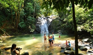 Posa azul waterfalls in Uvita, Costa Rica