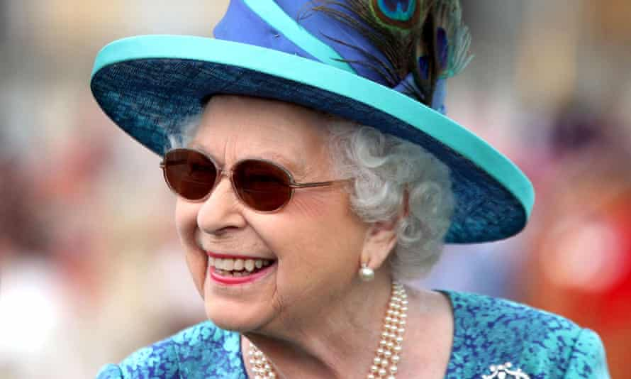 The Queen at a Buckingham Palace garden party