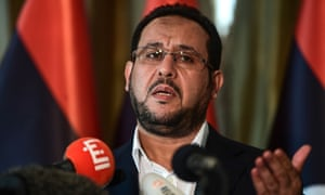 Abdel Hakim Belhaj during a press conference at the British consulate in Istanbul on 10 May 2018, after receiving a letter of apology from the UK government.