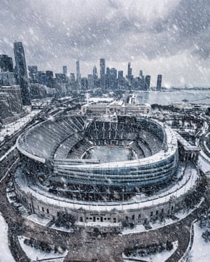 Soldier Field Blizzard, a shot of Chicago's football stadium during a blizzard in November 2018