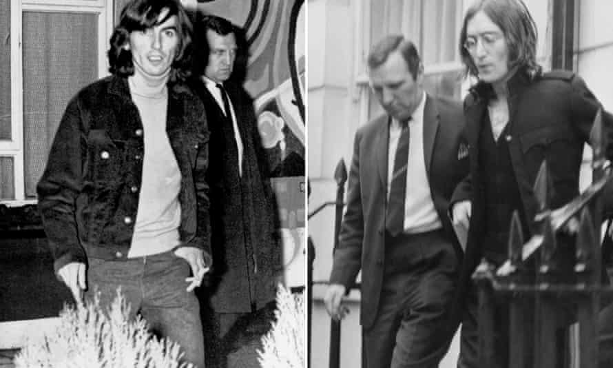 DS Norman Pilcher at the arrests of George Harrison in Esher in March 1969, and John Lennon at his Marylebone flat in October 1968.