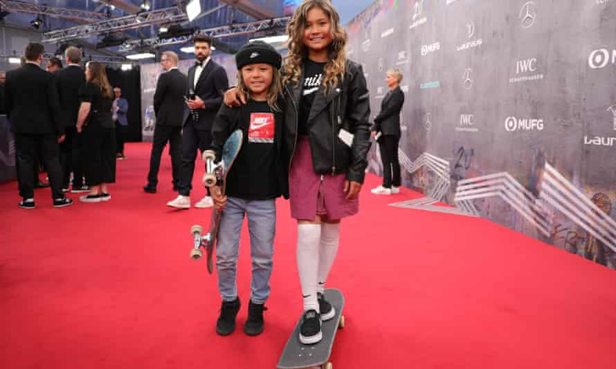 Sky and Ocean Brown attend the 2020 Laureus World Sports Awards in Berlin pre-lockdown during February.