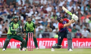 England's Jos Buttler (right) is caught out.
