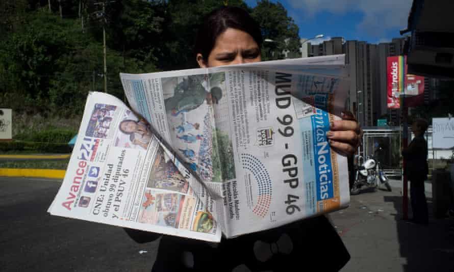 Venezuela election Caracas parliament opposition victory