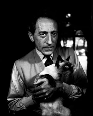 Jean Cocteau with Madeleine, Paris, 1950 from Jane Bown: Cats