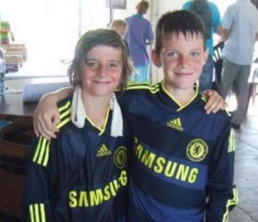 Mason Mountain με τον καλύτερό του φίλο Declan Rice στις μέρες του Chelsea.