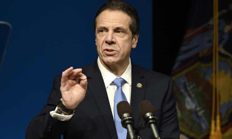 New York governor Andrew Cuomo delivers his State of the State address on 15 January in Albany.