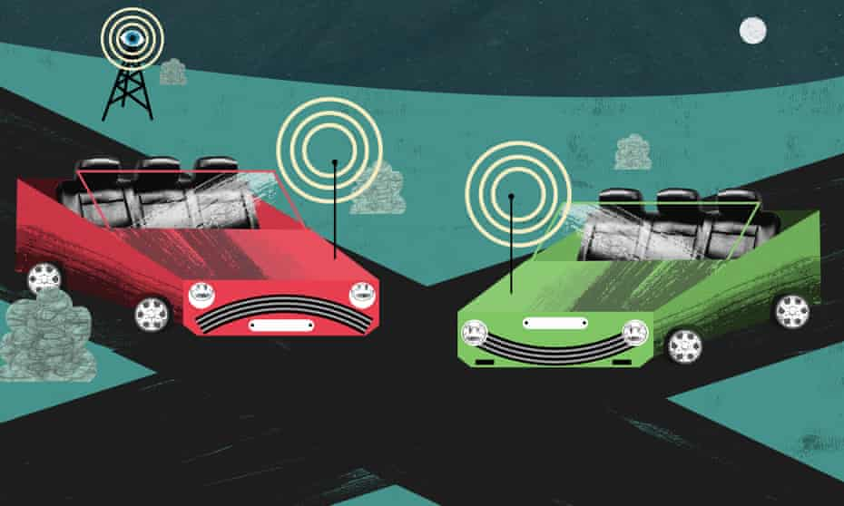 Driverless cars Illustration by Nate Kitch