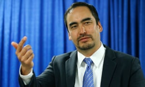 Tim Wu, a candidate for New York lieutenant governor, speaks during a news conference on Thursday, Aug. 28, 2014, in Albany, N.Y. (AP Photo/Mike Groll)