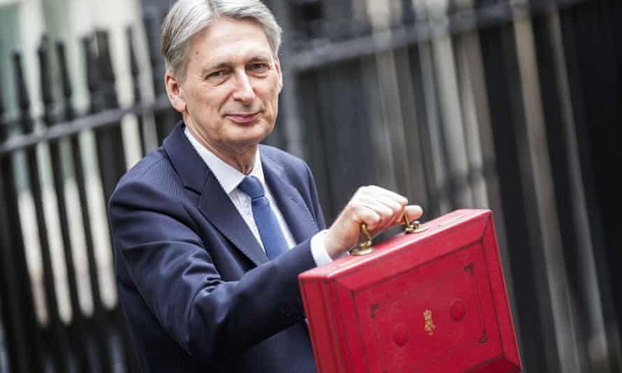 Philip Hammond before delivering the budget in March