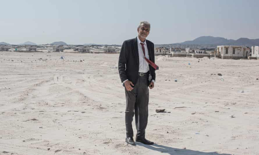Saeed Al Kaladi, 60, project manager for the Shabwa Bride Company, which is developing beachfront properties, at Bir Ali beach, Shabwa province.