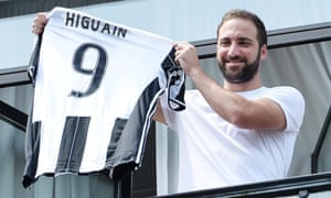 Gonzalo Higuaín after his move from Napoli to Juventus