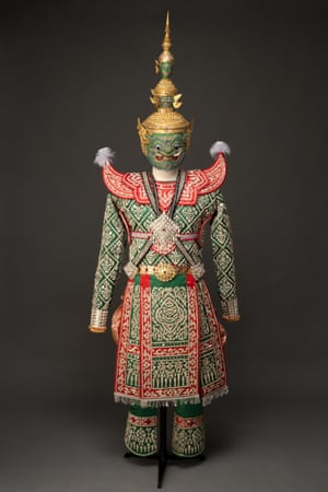 Mask and costume for Tosakanth, Thailand.