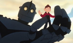 Alien encounter … the Iron Giant and his Earthling buddy Hogarth.