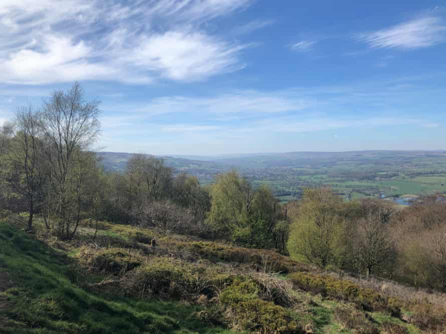 Contrail-free blue skies over Wharfedale, from the Chevin