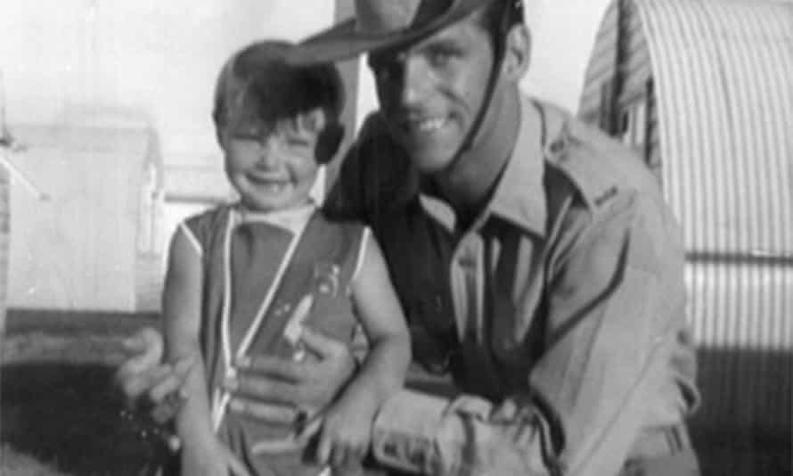 Cheryl Grimmer with her father John