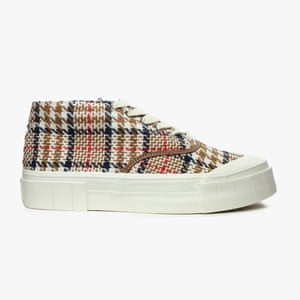 12. Good News The good news is that these chunky sneakers for men and women are made from sustainable and ethically-sourced materials, including recycled rubber soles. We love this season's brown retro check styles made from recycled Italian fabric. From £110; goodnews.london