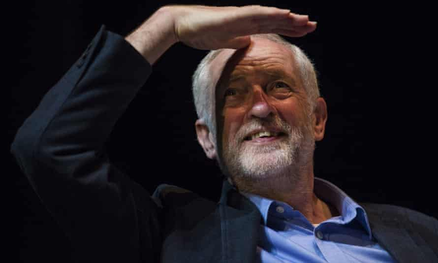Jeremy Corbyn during a rally at the Lowry theatre, Salford last week.
