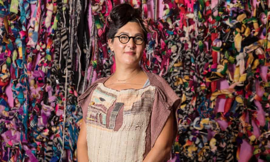 Tanya Aguiñiga, whose exhibition Craft & Care is now on show at the Museum of Art and Design in New York City.