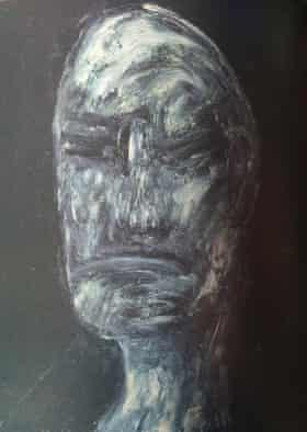 Francis Bacon's Study for Head of William Blake, made around 1955.