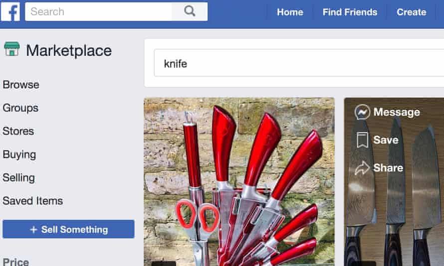 Culinary knives for sale on Facebook Marketplace.