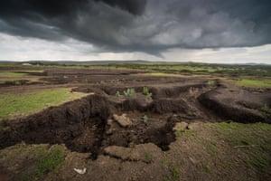 soil erosion in Tanzanian Maasai landscape