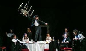 Laura Wade's Posh, directed by Cressida Carré, at Pleasance theatre, London