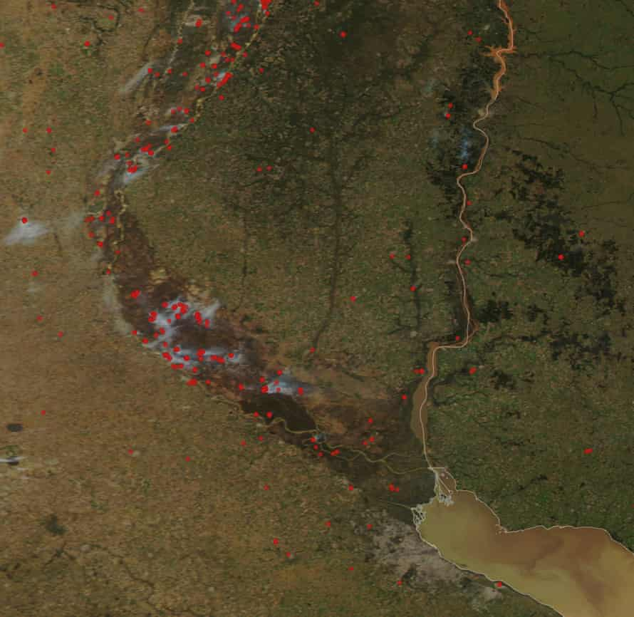 Satellite images show the scale of the drought