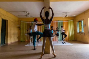 Students during rehearsals at the Leap of Dance Academy in Ajangbadi, Lagos, 3 July