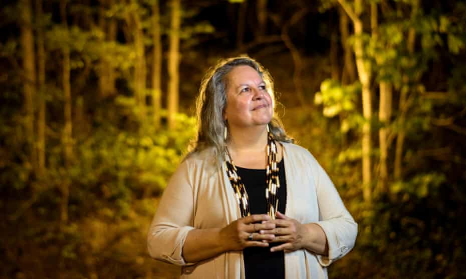 robin wall kimmerer photographed at night among trees in rockville maryland in 2017