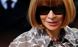 Anna Wintour at London fashion week in February 2013