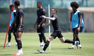 England's Phil Foden during a training session at AC Sammaurese.