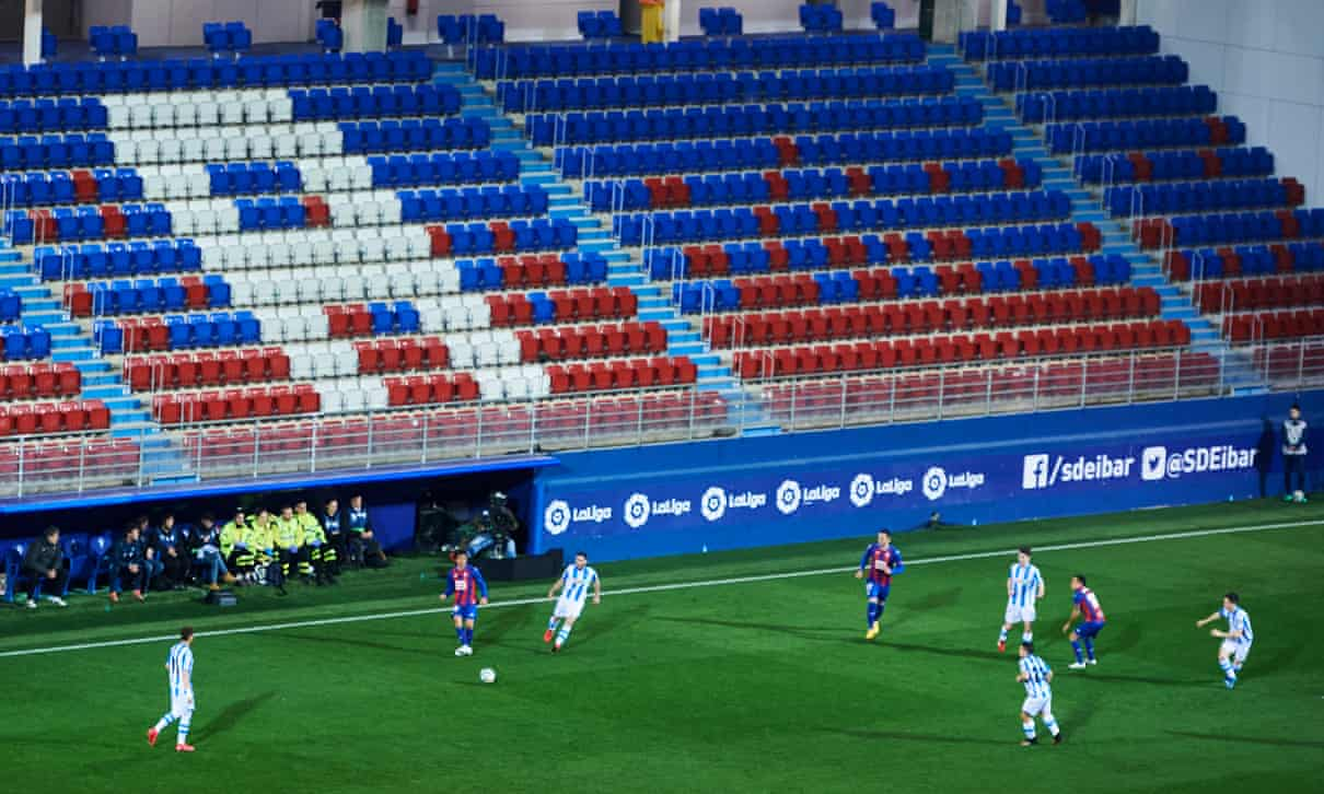 Eibar and Real Sociedad play behind closed doors on 10 March, in the last La Liga game before suspension.