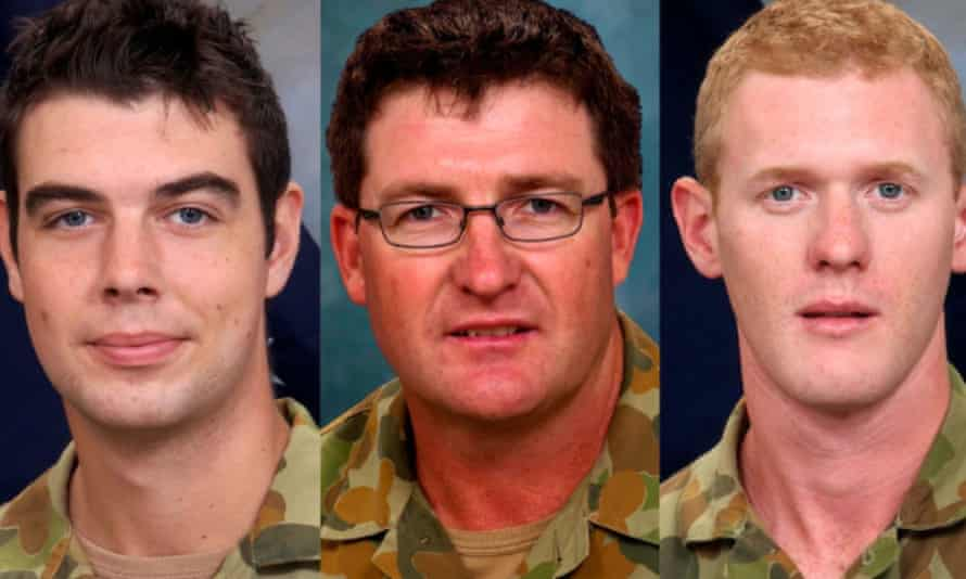 Australian soldiers Sapper James Martin, Lance Corporal Stjepan Milosevic and Private Robert were killed as they played cards at a patrol base in Afghanistan in August 2012.