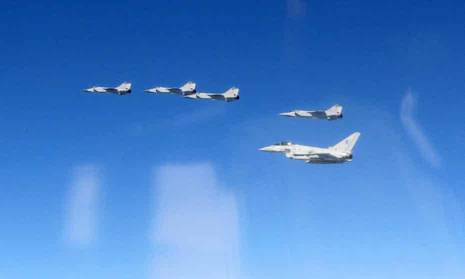 Typhoon pilots intercepting aircraft