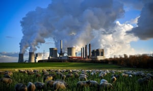 Steam rises from the brown coal-fired power plant Neurath and Niederaussem in Bergheim, Germany